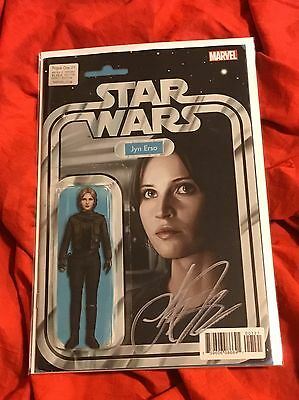 Star Wars Rogue One #1~Action Figure Variant~Signed By Writer Jody Houser~Nm