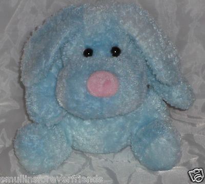 "8"" Princess Soft Toys Puppy Dog Baby Blue Pink Soft Stuffed Animal Plush Lovey"