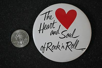 KRLA1110 The Heart And Soul Of Rock N Roll Los Angeles Radio Pin Pinback Button
