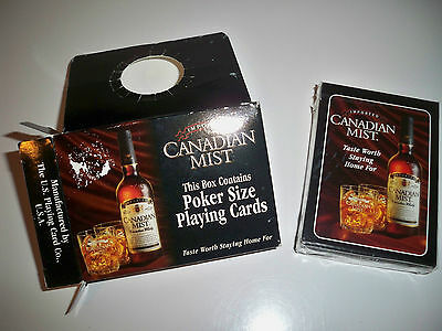 Canadian Mist Poker Size Playing Cards - New - Free Shipping