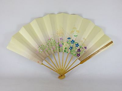 Japanese antique vintage Maiougi Maisen folding fan for Japanese dancing chacha