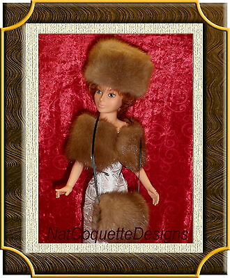 ~*~BEAUTIFUL PASTEL MINK FUR HAT and MUFF FOR CISSY, Madame Alexander DOLLS~*~