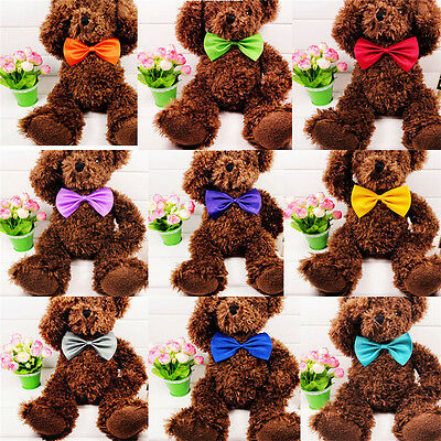 Cute Bowknot Solid Satin Bowknot Polka Do Polyester Baby Bow Tie Wedding 3PCS