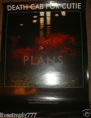Death Cab For Cutie Plans Album Music Band Promo Poster