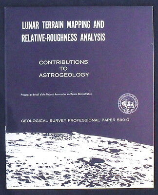 USGS APOLLO LUNAR TERRAIN MAPPING Rare 1971 Report Analyses Pictures from Moon