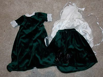 American Girl Doll Dress green velvet Outfit clothes