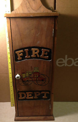 Rustic Wood Fire Dept Fire Extinguisher Wall Box Storage Cabinet