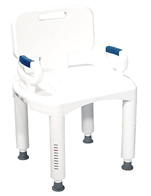 Shower Chair with Back and Arms Drive Medical Premium Series Adjustable Height