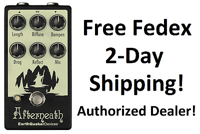 New Earthquaker Devices Afterneath v2 Reverb Guitar Effects Pedal