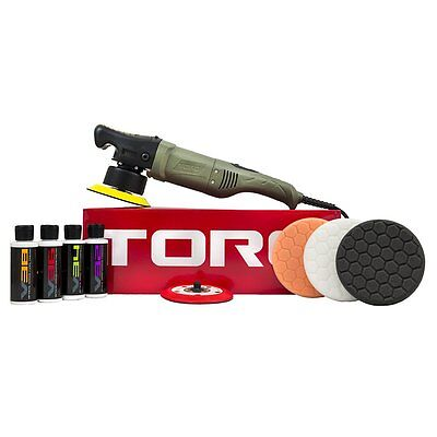 TORQ BUF501X 10FX Random Orbital Polisher Kit (Polisher + 9 Items) (NEW)