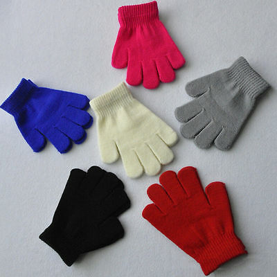 Toddler Snow Girls Boys Winter Candy Colors  Cotton Blend Mitten Warm Gloves