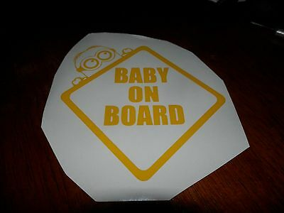 Yellow Baby on Board Decal/Sticker Newly Customized