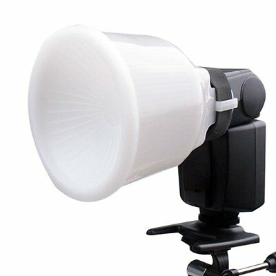 Universal Cloud Lambency Flash Diffuser Reflector White Dome Cover For Canon New
