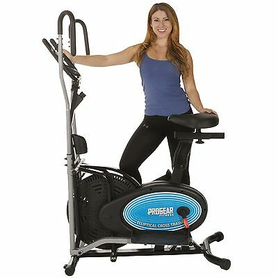 Paradigm ProGear 400LS 2 in 1 Air Elliptical and Exercise Bike with Heart Pulse
