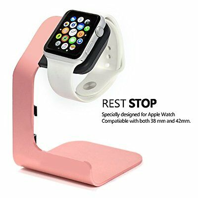 Tranesca Apple Watch Stand Aluminum Charging Station for 38mm and 42mm Rose Gold