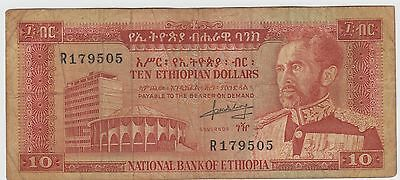 Ethiopia  $10   ND. 1966  P 27a  Prefix R Circulated Banknote