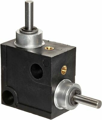 Huco 333.31.3.Z Size 31 L-Box Miniature Right Angle Gearbox, Acetal Case with Ac