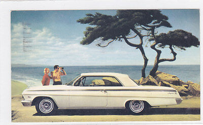 62 Chevrolet Impala Sport Coupe Advertising Postcard