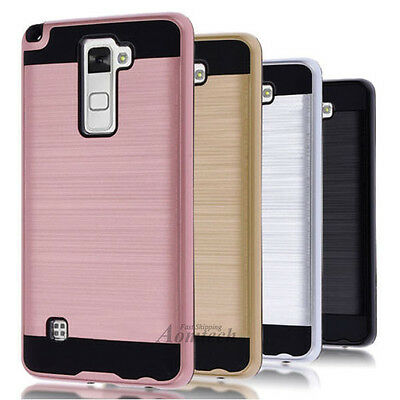 For LG Phone Case Armor Brushed Hybrid Shockproof Rubber Cover Hard Protector