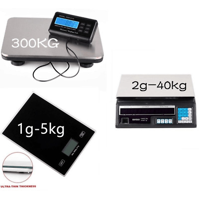 DIGITAL HEAVY DUTY 300KG Platform Industrial Parcel Scale WEIGHING PALLET SCALES