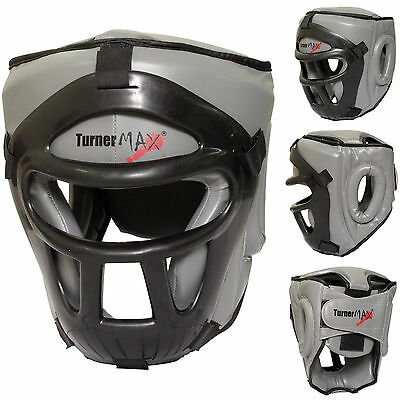 TurnerMAX Kick Boxing Head Guard Face Protector Helmet MMA