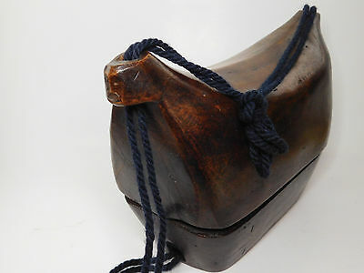Rare Ifugao Tribal Wood Carved Wooden Purse, Philippines