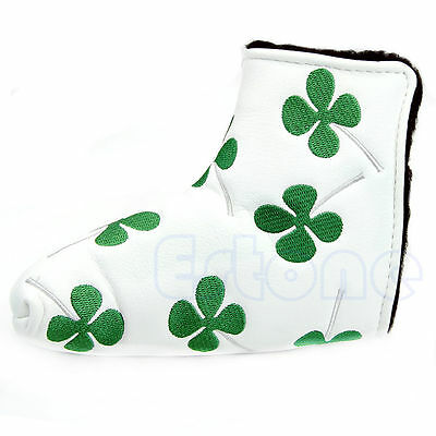 New Golf Putter Head Cover Clover Headcover For Taylormade Ping Callaway White