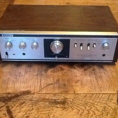 Vintage Retro Sony TA-1010 Stereo Integrated Amplifier.