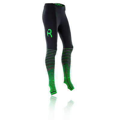2XU Elite Recovery Womens Green Black Compression Long Tights Bottoms Pants