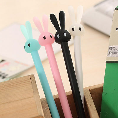 4 Lot Cute Bunny Signing Pen Cartoon Rabbit Stationery Student Office Supplies