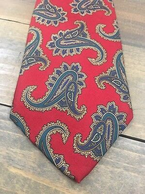 Eastwick Red Green Blue Gold Paisley Classic Silk Mens Neck Tie