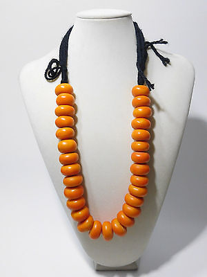 African Jewelry Berber resin beads  Necklace from Morocco