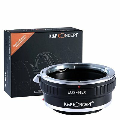 K&F Lens Mount Adapter Canon EOS EF To Sony Nex E-Mount Camera Accessories New