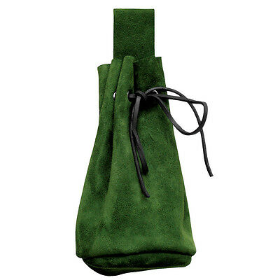Quality Suede Pouch - Belt Bag. Perfect For Stage Costume & LARP 4 Colours
