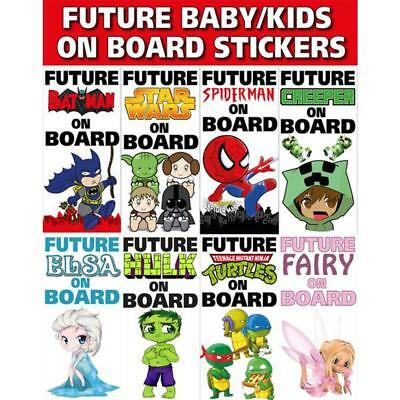 Future Baby/Kids on Board Vinyl Bumper Stickers
