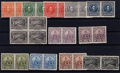 P25836/ Panama / Pairs / Block Of 4 / Mi # 128 / 139 Neufs / Mint 112 €