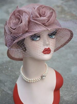 Womens Cloche T123 Formal Sinamay Bridal Mother's Royal Ascot Ladies' Day Hat