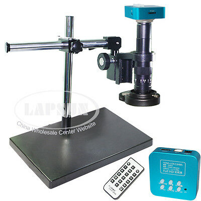 180X 16MP 1080P 60FPS HDMI USB Industrial Microscope Camera+ ZOOM C-mount Lens S