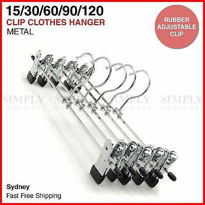 Metal Clip Hangers Trouser Skirt Coat Pants Bulk Clothes Clothing Coathangers