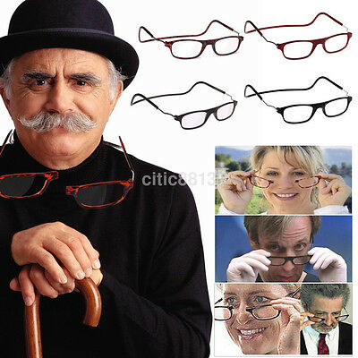 Magnet Reading Glasses Connect Folding Reading Eyeglasses Neck Hanging Eyewear