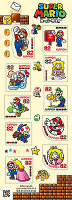 Pre-Sale Nintendo and Japan Post Limited Edition Greeting Super Mario Stamps