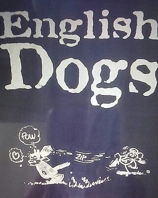 ENGLISH DOGS  1998- T-Shirt Black with White Front Print - XLarge