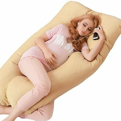 U Shape Maternity Pillow Pregnancy Nursing Sleeping Full Body Support Feeding AU