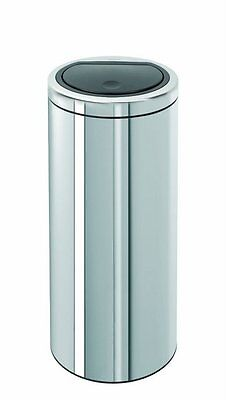 Brabantia 30 Litre Flat Top Touch Bin Stainless Steel 10 Year Guarantee