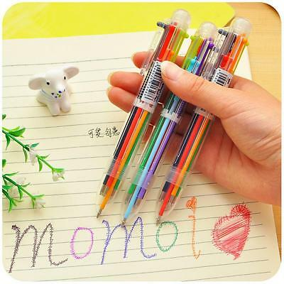 6 In 1 Kids Ballpoint Pen 6 Colors Painting Writing