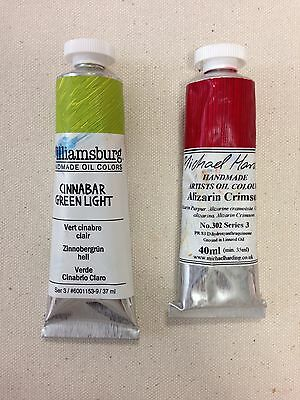 NEW & USED MICHAEL HARDING Alizarin Crimson Oil Williamsburg Cinnabar Green