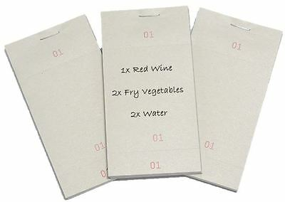 10 Single Kitchen Restaurant Pads Numbered Cafe Order Takeaway Pub Food Waiter