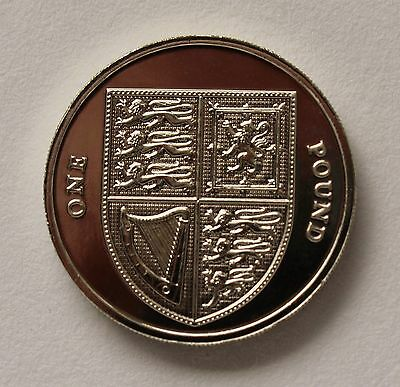 2015 Royal Shield of Arms One Pound £1 Coin - BU - Fifth Portrait