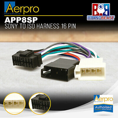 Aeropro Sony To Iso Connector Plug Harness 16 Pin App8sp Unit Wiring Loom