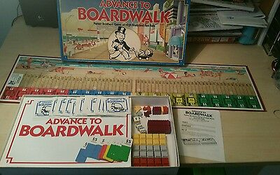 Parker Brothers Vintage Board game: Advance to Boardwalk 1985